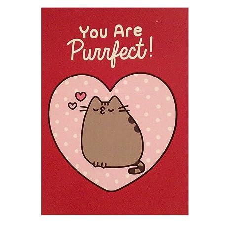 Pusheen The Cat Card - Tarjeta de felicitación de San ...