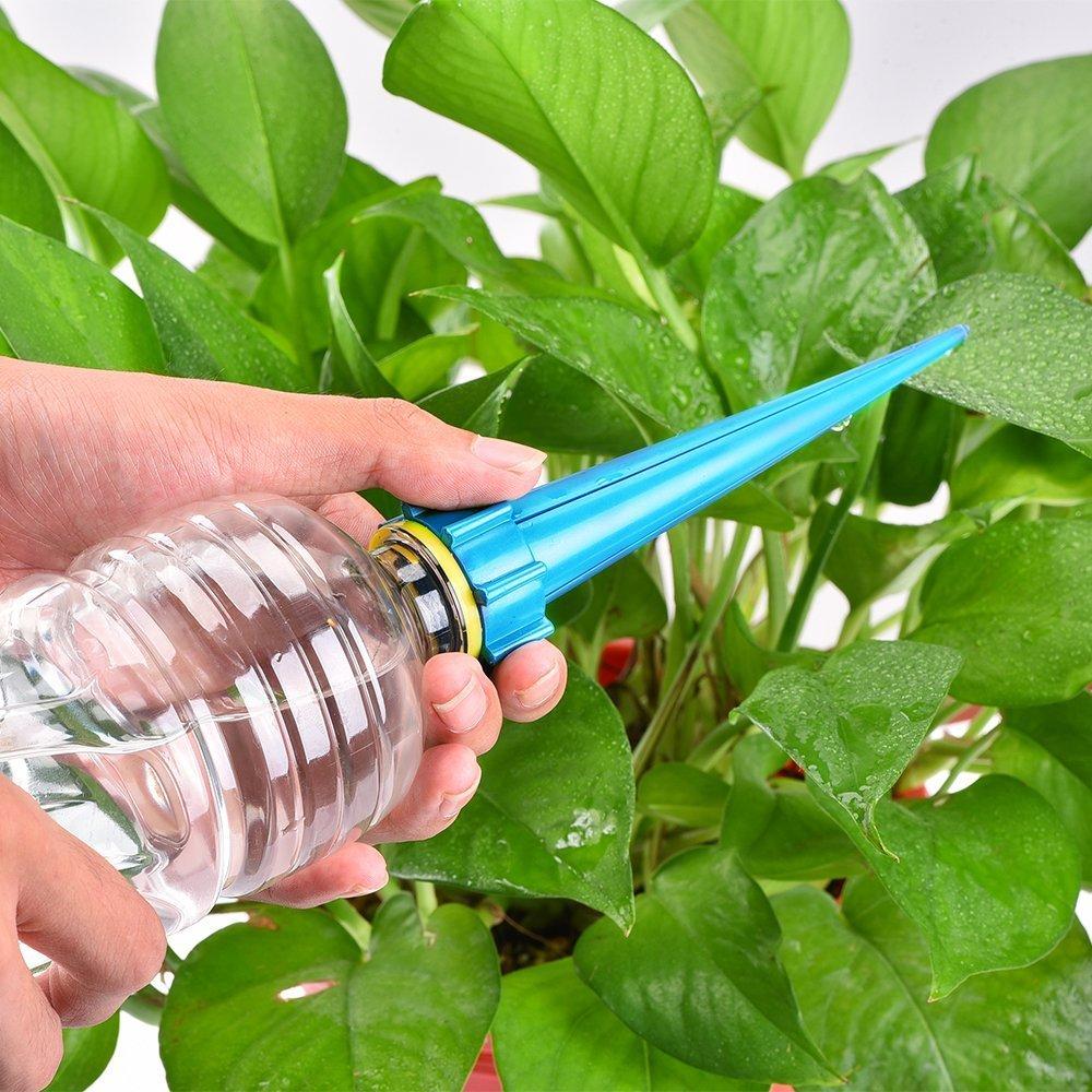 8 piezas de control automático por goteo riego planta picos picos de riego regadera botella sistema de riego: Amazon.es: Jardín