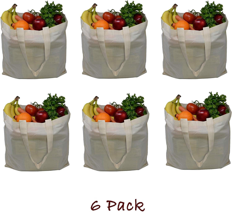 ZBasics - Bolsa reutilizable de lona – Bolsas de compras de ...