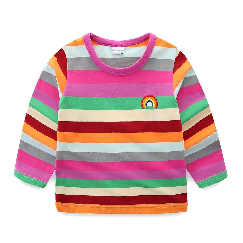 Mud Kingdom Boys T-Shirts Rainbow Stripe