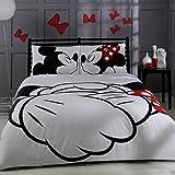 100% Türkische Baumwolle Disney Mickey & Minnie Full Double Queen Size Quilt Bettbezug Set Bettwäsche von Disney–4PCS