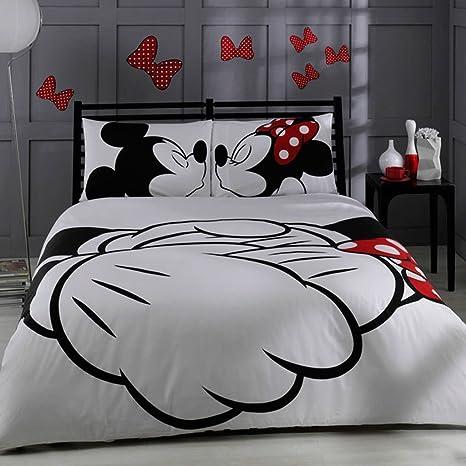 Copriletto Matrimoniale Topolino E Minnie.100 Cotone Turco Disney Mickey E Minnie Full Double Queen Size