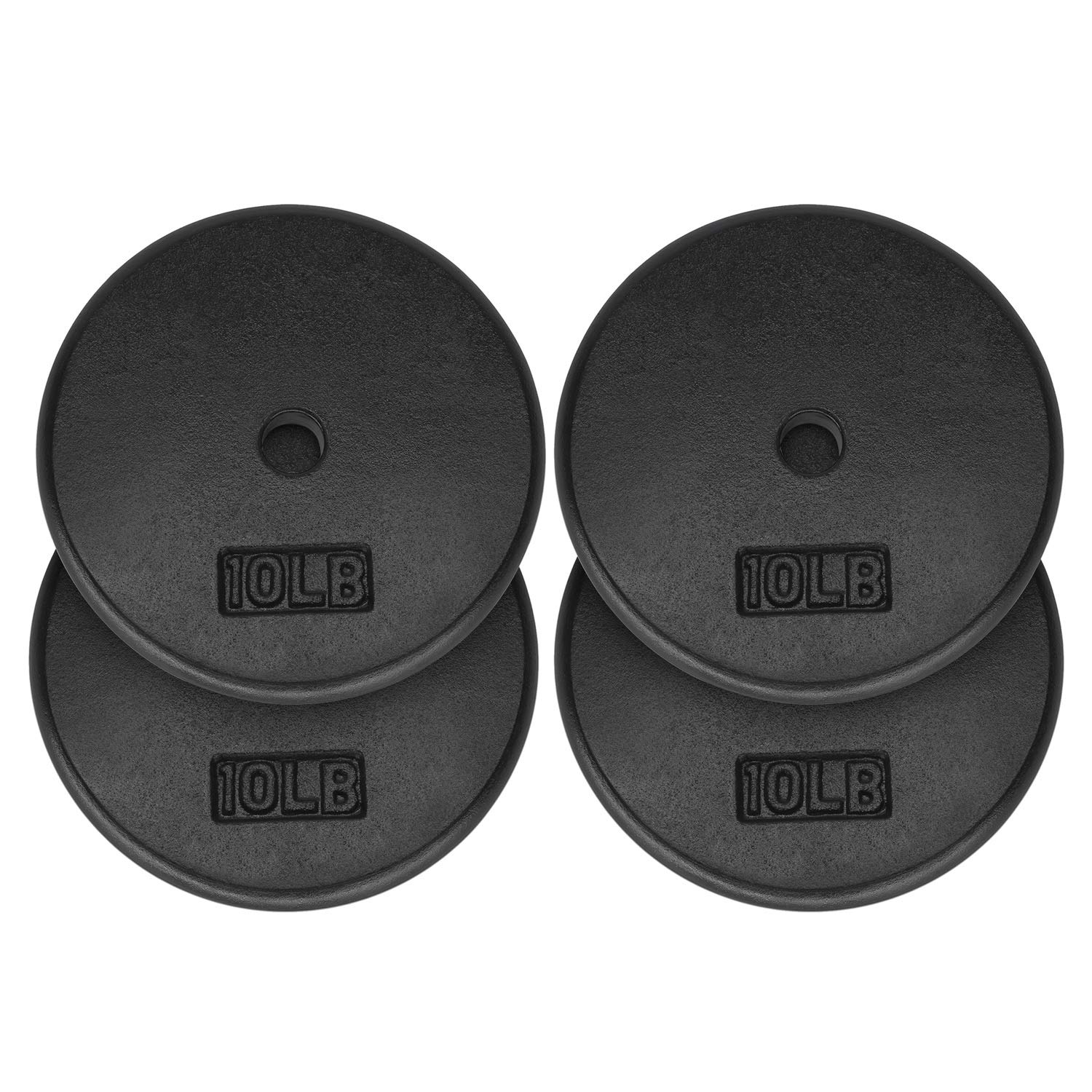 Yes4All 1-inch Cast Iron Weight Plates for Dumbbells – Standard Weight Plates (Combo 10lb x 4pcs)