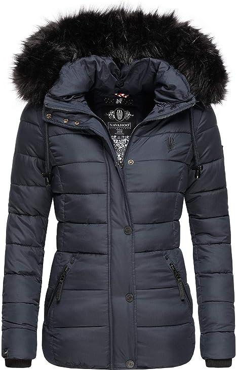 Navahoo Giacca invernale trapuntata da donna con pelliccia sintetica rimovibile Zoja XS-XXL