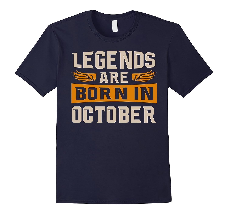 Men's Legends Are Born In October T-Shirt-T-Shirt