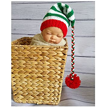 Newborn Baby Photography Props Boy Girl Crochet Costume Outfits Christmas  Long Tail Hat  Amazon.co.uk  Baby cb86f3f65a6d