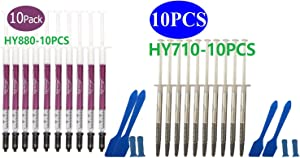 HY-880-10pcs(1PCS-1g)-Thermal Conductivity:>5.15W/m-Thermal Paste,CPU Paste;Heatsink Past;Thermal Compound;Heatsink Paste,Thermal Compound CPU for All Coolers-10 Grams
