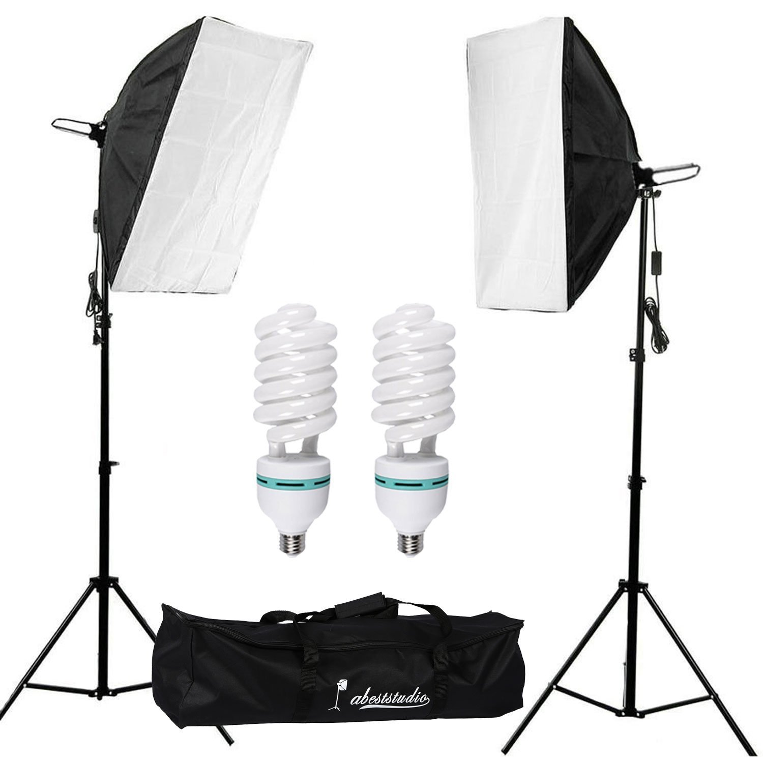 with studio photo photography product including video bulb light ligh neewer daylight lighting diffuser softbox kit cfl x balanced socket