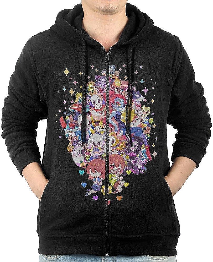 LetBiBi Hoodie Sweatshirt Mens Characters Undertale Long Sleeve Zip-up Hooded Sweatshirt Jacket