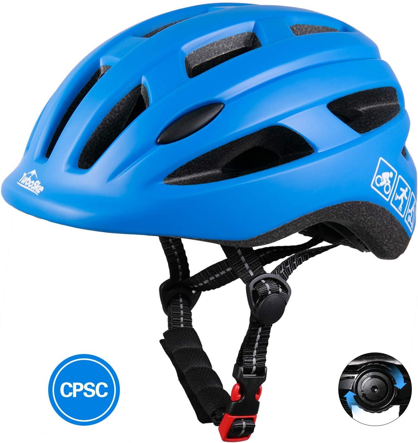 TurboSke Toddler Bike Helmet, CPSC Certified Multi-Sport Adjustable Helmet for Kids Boys and Girls Age 3-5