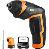 Tacklife SDP51DC Cordless Rechargeable Screwdriver 3.6-Volt 2000mAh Li-ion MAX Torque 4N.m -- LED, 31pcs Driver Bits, 1pc Right Angle Adapter, 1pc Drill Bit, USB Charging Cable