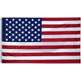 WJASI 3x5 Foot Polyester American US Flag, UV Coating Double Stitched USA Flags with Brass Grommets