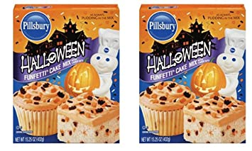 2 pack of pillsbury funfetti halloween cake mix 1525 ounce makes 48 cupcakes