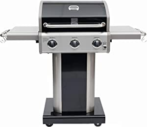 Kenmore PG-4030400LD-AM 3 Burner Outdoor Patio Gas BBQ Propane Grill, Black