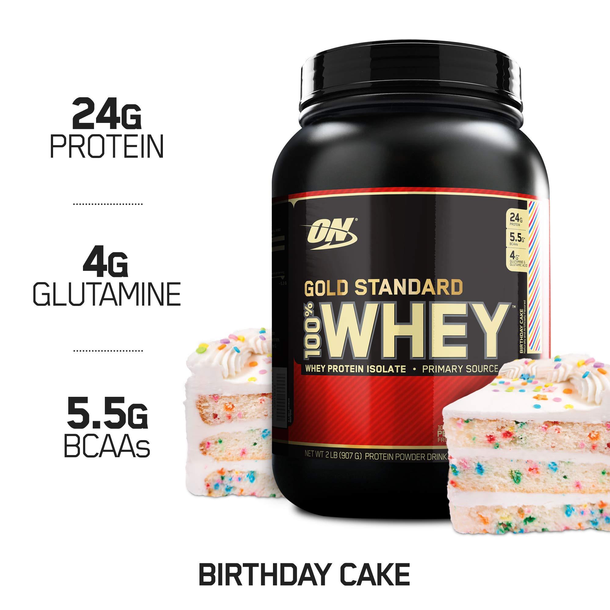 OPTIMUM NUTRITION GOLD STANDARD 100 Whey Protein Powder Birthday Cake 2 Pound