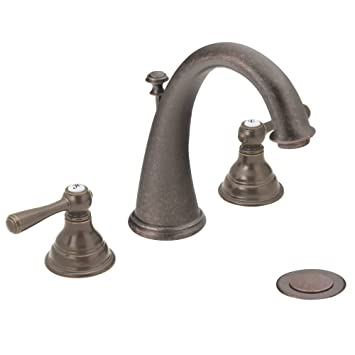 moen t6125orb kingsley twohandle higharc widespread bathroom faucet without valve oil