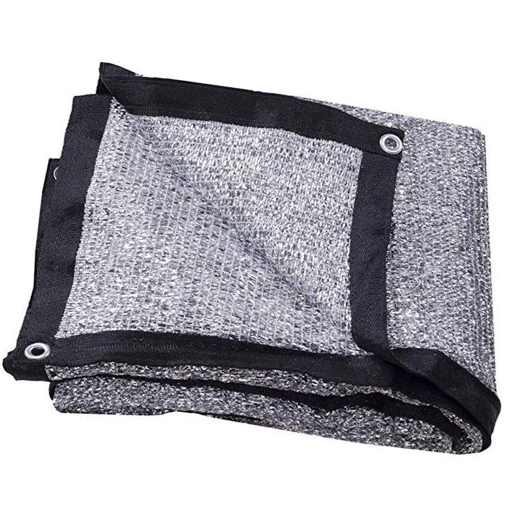 GGYMEI Filet De Camouflage Toile D'ombre Feuille D'aluminium Dureté Résistant Aux Radiations Store De Balcon, 15 Tailles (Couleur   argent, Taille   4x8m) argent 4x8m