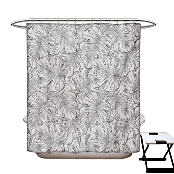 Amazon.com: Cortina de ducha tropical, decoración de baño ...