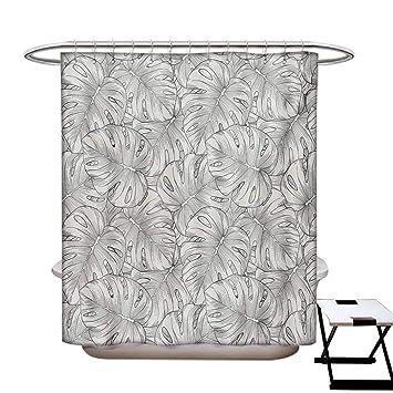 Amazon.com: Cortina de ducha tropical, decoración de baño ...
