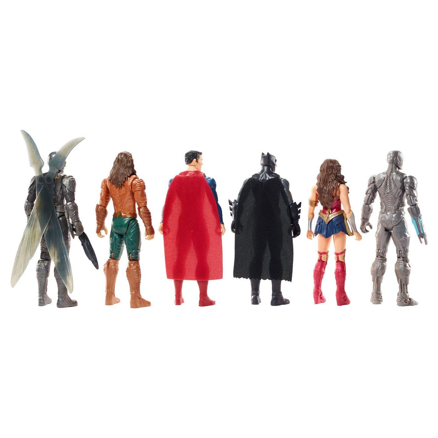 Batman Includes:Cyborg Super Deluxe Aquaman /& Parademon DC Justice League 12 Action Figures 6 Pack Superman Wonder Woman