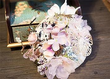 Elegence Z Britischer Retro Stil Braut Fascinator Anti Echte Blume