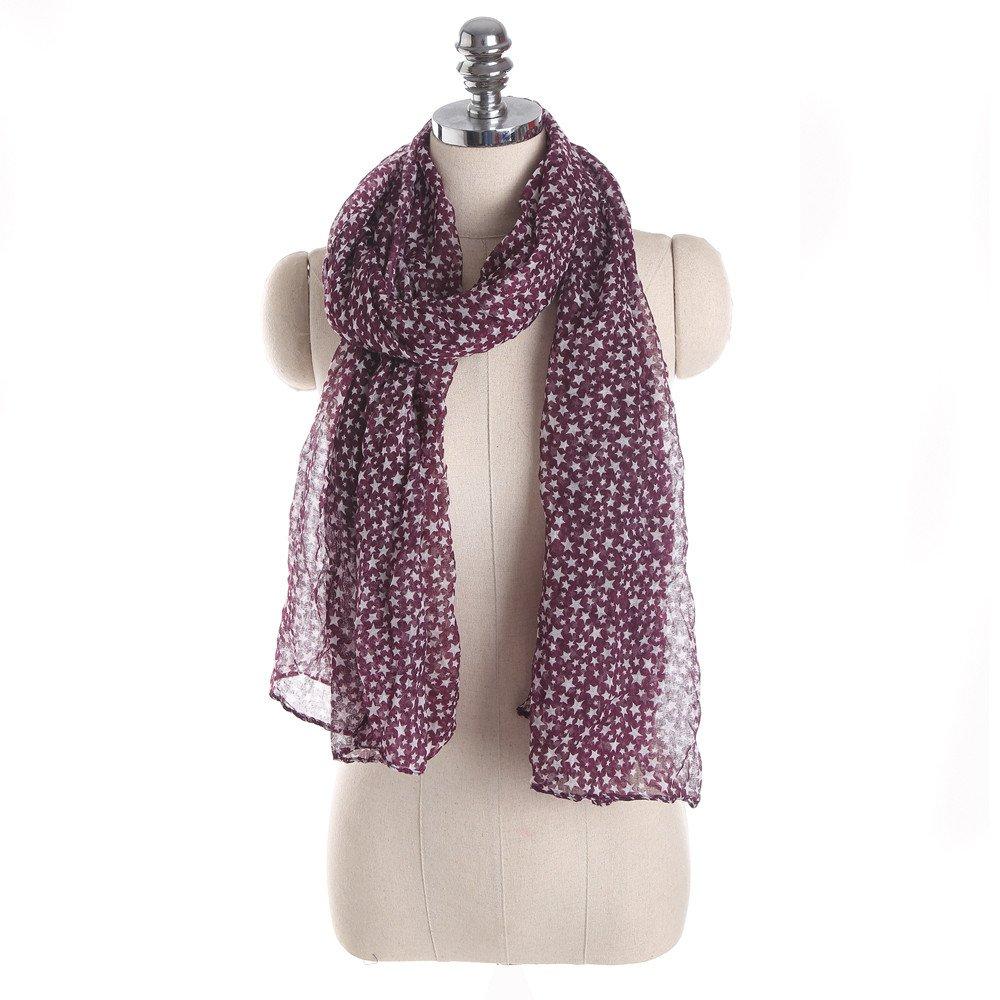 Wociaosmd Clearance Women Ladies Stars Printing Viscose Lightweight Long Scarf Shawl Wraps