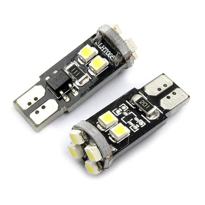 501 8 LED WHITE SIDELIGHT BULBS VOLVO S70 C30 S40 V50