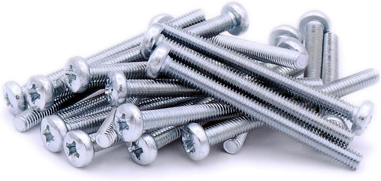4 mm x 45 mm Pack de 20 Acero Pozi Tornillos para m/áquina de sartenes M4