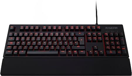 Teclado LED profesional para videojuegos Fnatic Gear Rush (teclas mecánicas en azul Cherry MX, disposición de teclas: idioma inglés americano)