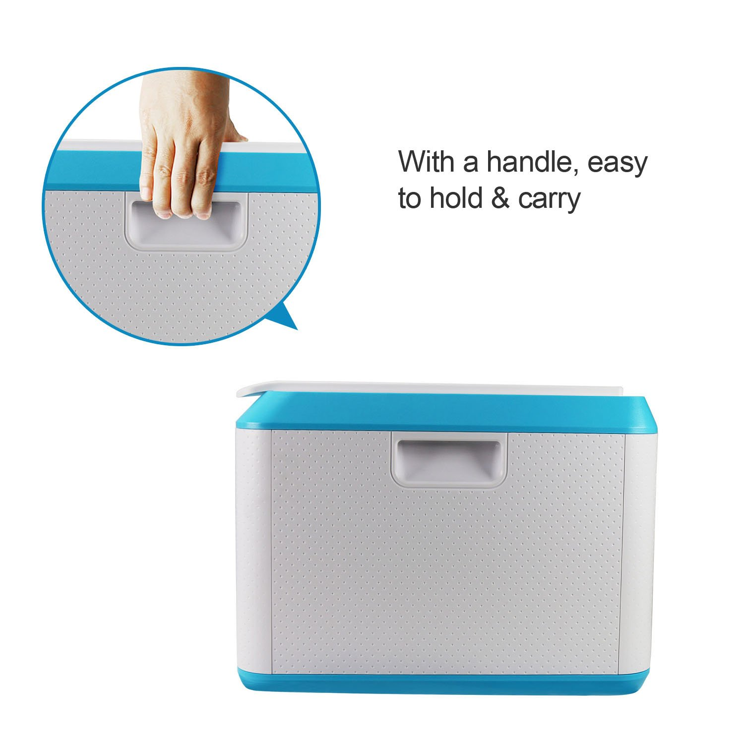 EVERTOP Extra Large Deck Box for Home, Office, Car, White with Code Lock (A-Green) by EVERTOP (Image #5)