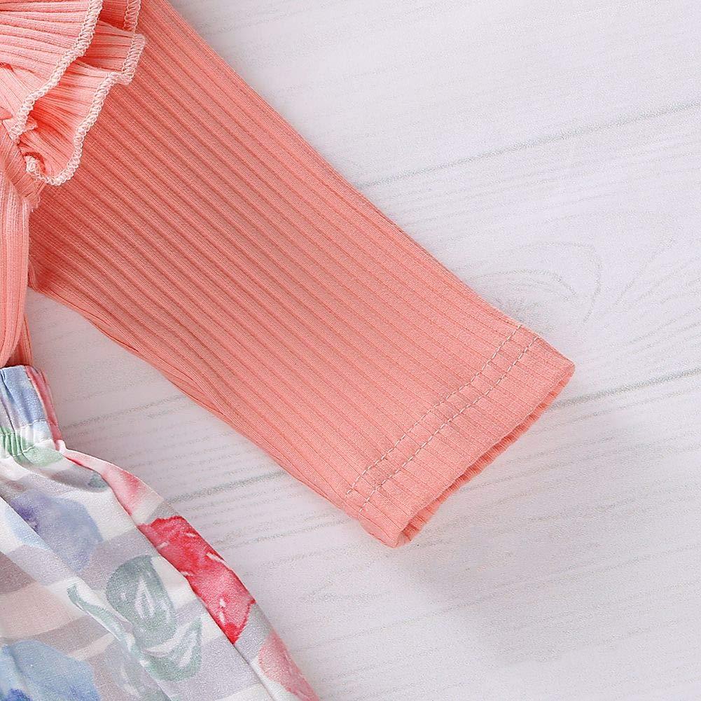Conjuntos de top y falda Beb/é Ni/ñas,URMAGIC Mamelucos de Manga Larga Traje y Faldas Florales Ropa Beb/é 2PCs Oto/ño Conjuntos para 0-18 Meses