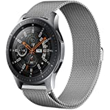 Kartice Compatible Gear S3 Band,Galaxy Watch (46mm) Bands,22mm Milanese Loop Stainless Steel Strap Wrist Replacement Band Samsung Gear S3 Frontier/Gear S5 Classic Smart Watch(Silver)