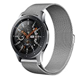 Kartice Compatible Gear S3 Band,Galaxy Watch (46mm) Bands,22mm Milanese Loop Stainless Steel Strap Wrist Replacement Band for Samsung Gear S3 Frontier/Gear S5 Classic Smart