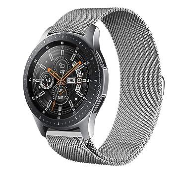 GOSETH compatible pour Samsung Galaxy Watch 22mm Bracelet,réglable en acier inoxydable de remplacement Band