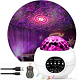 Star Night Light Projector Bedroom,Nakalus Nebula Projector LED Ocean Wave Starry Projector Light with Bluetooth Hi-Fi…