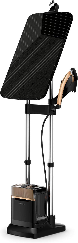 Rowenta IXEO Power QR2020 Cepillo de vapor 2170 W, 5.8 bares presión vapor, depósito 1.1 L, elimina arrugas, olores y desinfecta, accesorio prendas delicadas y gruesas, tabla vertical cabezal XL
