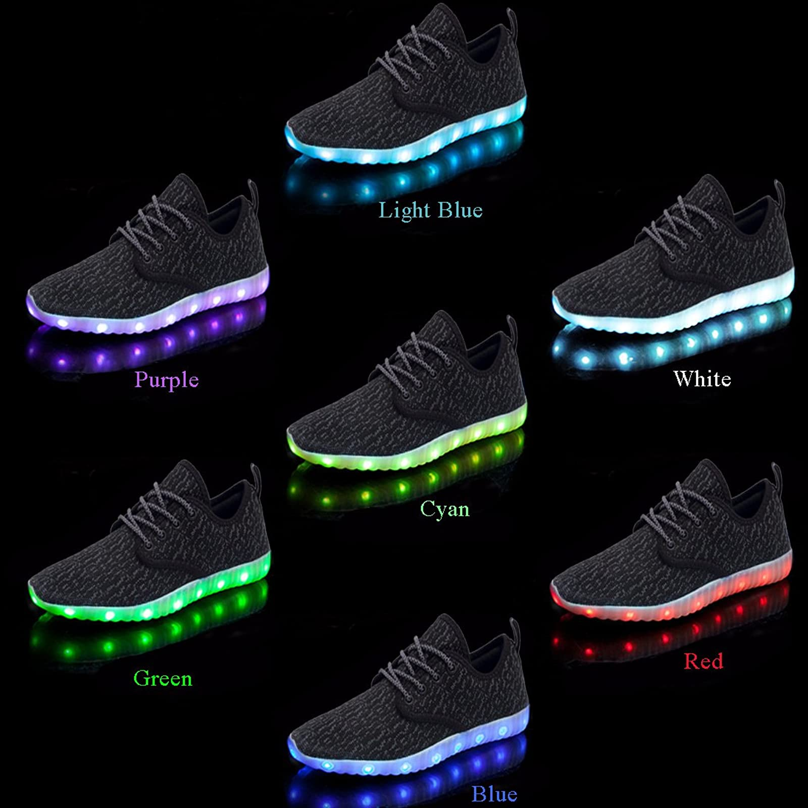 Believed Led Light Up Shoes for Boys Girls Breathable USB Flashing Sneakers