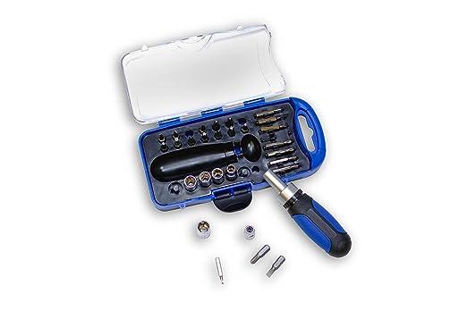 Hyundai hco17 estuche de vaso/punta para destornillador 31 piezas: Amazon.es: Bricolaje y herramientas