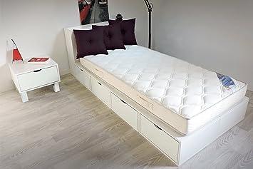 Amazon De Abc Meubles Bett 90 X 200 Boxen Mit Schubladen