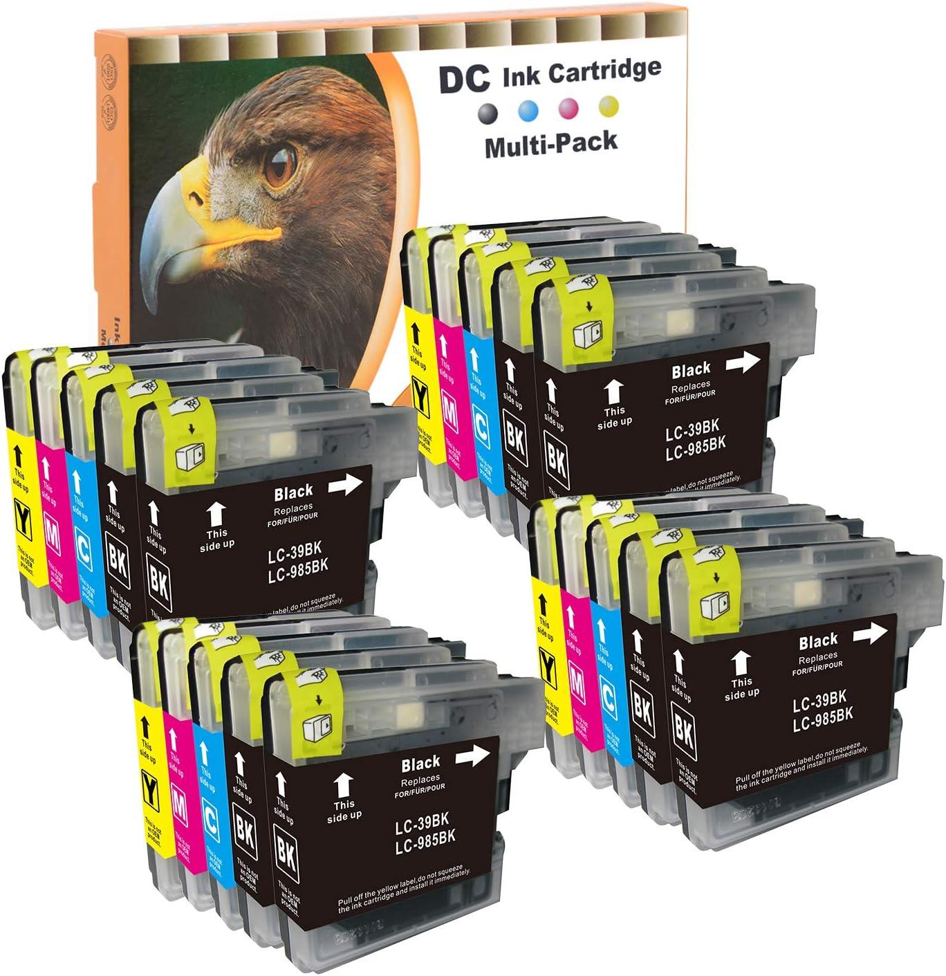 D C 20x Druckerpatronen Xl Kompatibel Für Brother Lc985 Lc 985 Lc 39 Lc 975 Für Brother Dcp J 125 Dcp J 140 W Dcp J 315 W Dcp J 515 W Mfc J 220 Mfc J 265 W Mfc J 410 Mfc J