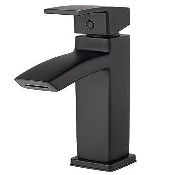 Pfister LG42DF1B Kenzo Single Control 4 quot  Centerset Bathroom Faucet  Matte  Black. Pfister LG42DF1B Kenzo Single Control 4  Centerset Bathroom Faucet