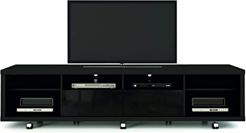 Manhattan Comfort Cabrini TV Stand 2.2 Black Glossy