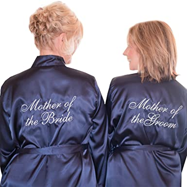 80ecddbeab Mother of the Bride and Mother of the Groom Satin Bridal Robes - Set of 2