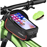 Gifts for Men Dad, Bike Frame Bag Handlebar Bag, Waterproof Cycling Top Tube Bag Bicycle Accessories Storage Pouch Bag…