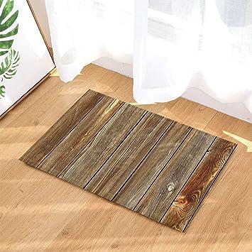 fuhuaxi Holzboden Badezimmer Teppich Rutschfeste Boden ...