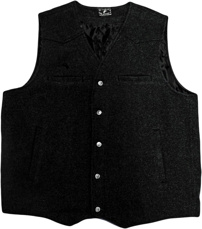 Men's Vintage Vests, Sweater Vests Wyoming Traders Mens Wool Vest - Vb-Black $62.49 AT vintagedancer.com