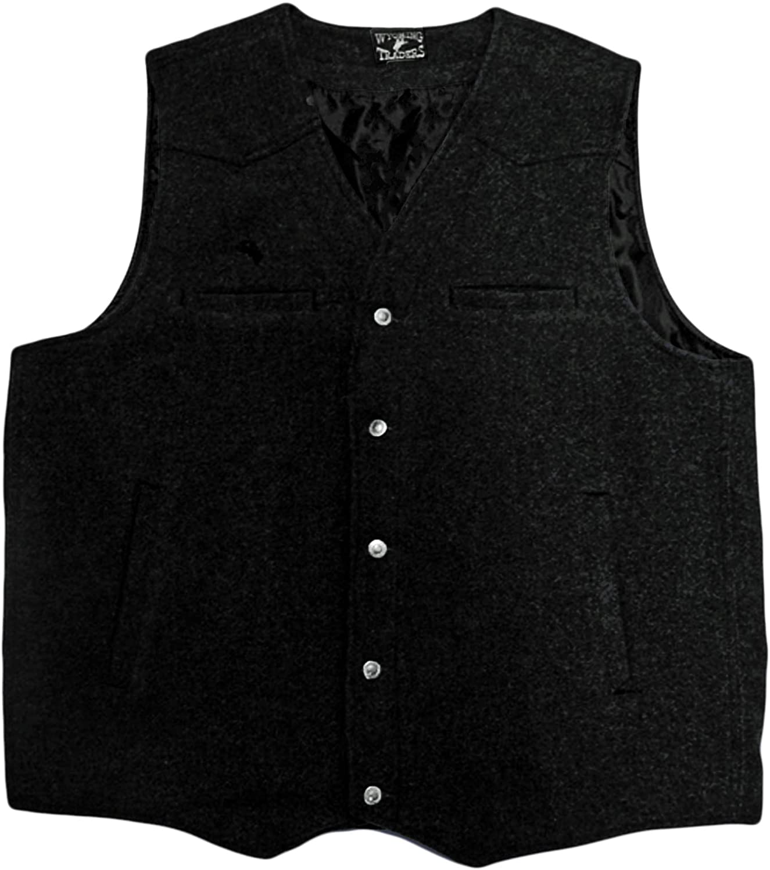 Victorian Men's Vests and Waistcoats Wyoming Traders Mens Wool Vest - Vb-Black $62.49 AT vintagedancer.com