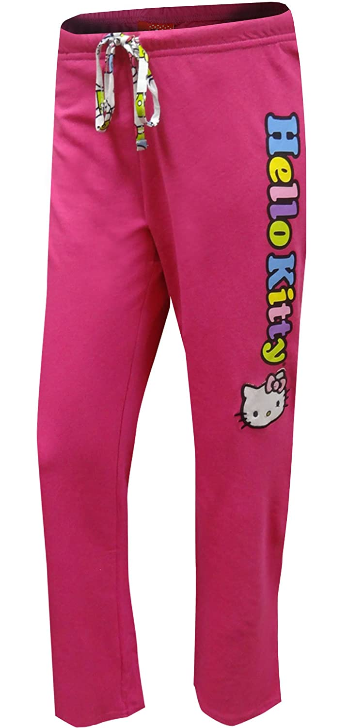 Hello Kitty Women's on a Rainbow Logo French Terry Capri Lounge Pant Age Group AGH80407L