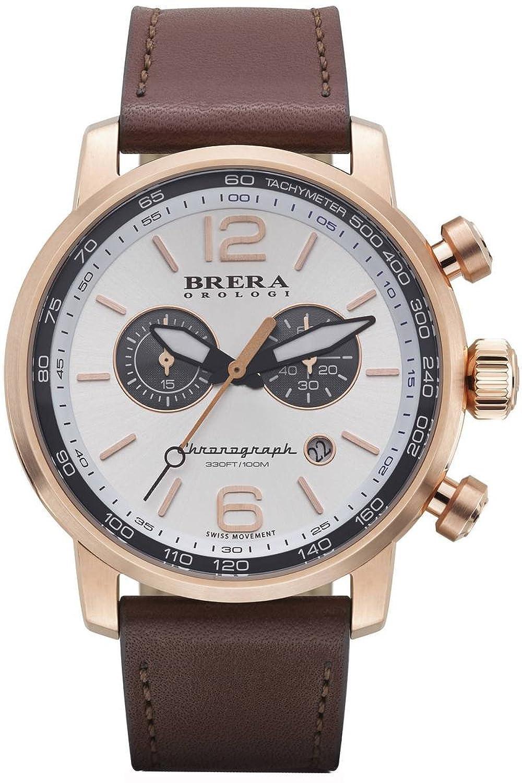 Brera Orologi Herren Chronograph Uhr - Dinamico rose gold