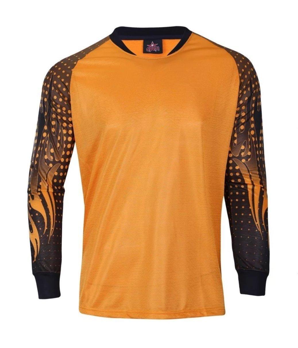 1 Stop Soccer Orange Goalkeeper Jersey Padded Elbows
